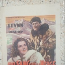 Cinéma: CARTEL ORIGINAL BELGA ERROL FLYNN, JULIE BISHOP. Lote 254941200