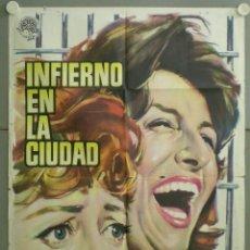 Cine: RT11D INFIERNO EN LA CIUDAD ANNA MAGNANI GIULETTA MASINA POSTER ORIGINAL 70X100 ESTRENO. Lote 254969370