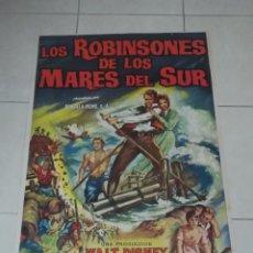 Cine: POSTER / CARTEL DE CINE ORIGINAL. LOS ROBINSONES DE LOS MARES DEL SUR. WALT DISNEY. 100 X 70CM.. Lote 254971755