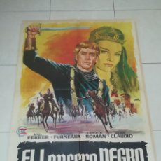 Cine: POSTER / CARTEL DE CINE ORIGINAL. EL LANCERO NEGRO. MEL FERRER, LETICIA ROMAN. 100 X 70CM.. Lote 254972115
