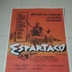 Cine: POSTER / CARTEL DE CINE ORIGINAL. ESPARTACO. KIRK DOUGLAS. 100 X 70CM.. Lote 284654328