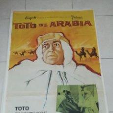 Cine: POSTER / CARTEL DE CINE ORIGINAL. TOTO DE ARABIA. JOSE LUIS LOPEZ VAZQUEZ. 100 X 70CM.. Lote 254976970