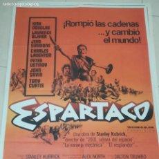 Cine: POSTER / CARTEL DE CINE ORIGINAL. ESPARTACO. KIRK DOUGLAS. 100 X 70CM.. Lote 284652788