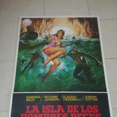 Cine: POSTER / CARTEL DE CINE ORIGINAL. LA ISLA DE LOS HOMBRES PECES. BARBARA BACH. 100 X 70CM.. Lote 269186828