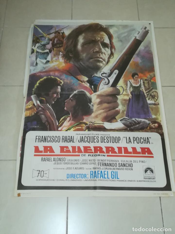 POSTER / CARTEL DE CINE ORIGINAL. LA GUERRILLA. FRANCISCO RABAL. 100 X 70CM. (Cine - Posters y Carteles - Aventura)