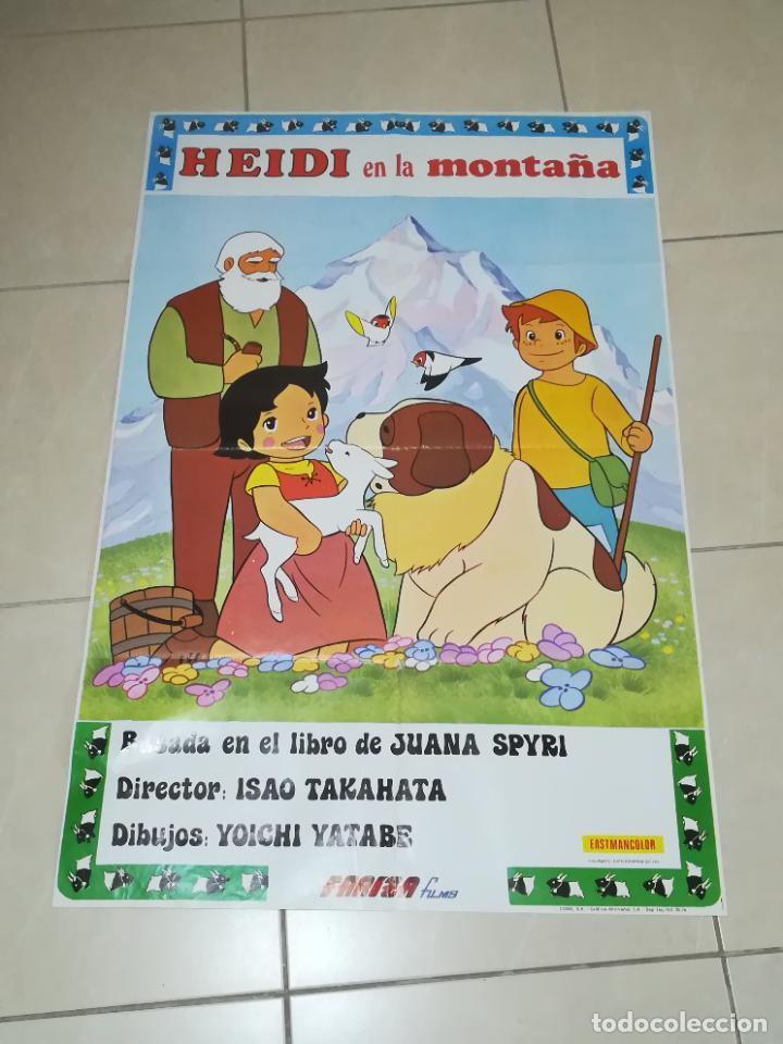 POSTER / CARTEL DE CINE ORIGINAL. HEIDI EN LA MONTAÑA. FARIZA FILMS. 100 X 70CM. (Cine - Posters y Carteles - Aventura)