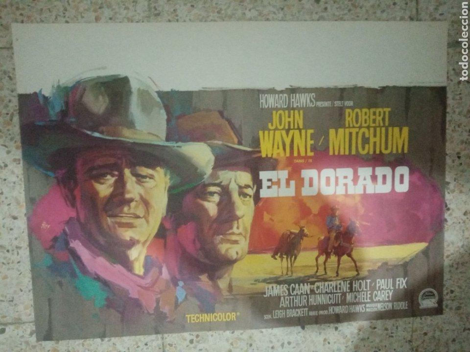 CARTEL ORIGINAL BELGA EL DORADO, JOHN WAYNE, ROBERT MITCHUM (Cine - Posters y Carteles - Aventura)