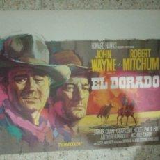 Cine: CARTEL ORIGINAL BELGA EL DORADO, JOHN WAYNE, ROBERT MITCHUM. Lote 255004805