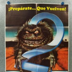 Cine: CRITTERS 2. TERRENCE MANN, DON KEITH OPPER - POSTER ORIGINAL ESTRENO. Lote 255949950