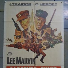 Cine: CDO K228 SARGENTO RYKER LEE MARVIN POSTER ORIGINAL 70X100 ESTRENO. Lote 257308310
