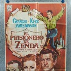 Cine: EL PRISIONERO DE ZENDA. STEWART GRANGER, JAMES MASON, DEBORAH KERR AÑO 1967. POSTER ORIGINAL. Lote 257309975