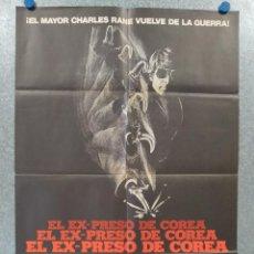 Cine: EL EX-PRESO DE COREA. WILLIAM DEVANE, TOMMY LEE JONES, LINDA HAYNES. POSTER ORIGINAL. Lote 257310535