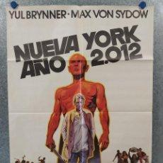 Cine: NUEVA YORK, AÑO 2012. YUL BRYNNER, MAX VON SYDOW. AÑO 1975. POSTER ORIGINAL. Lote 257400975