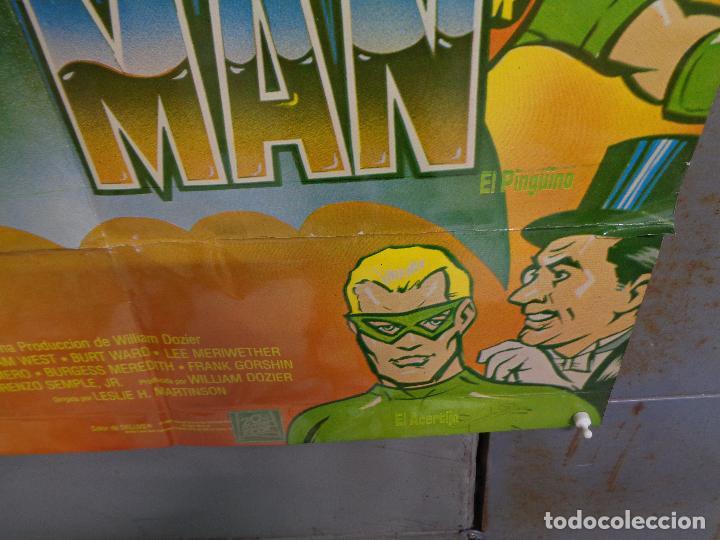 Cine: CDO K324 BATMAN ADAM WEST COMIC TV SERIES POSTER ORIGINAL MEJICANO 70X94 R-80S - Foto 9 - 257414025