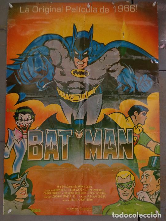 CDO K324 BATMAN ADAM WEST COMIC TV SERIES POSTER ORIGINAL MEJICANO 70X94 R-80S (Cine - Posters y Carteles - Ciencia Ficción)