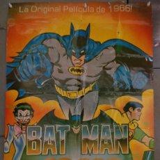 Cine: CDO K324 BATMAN ADAM WEST COMIC TV SERIES POSTER ORIGINAL MEJICANO 70X94 R-80S. Lote 257414025