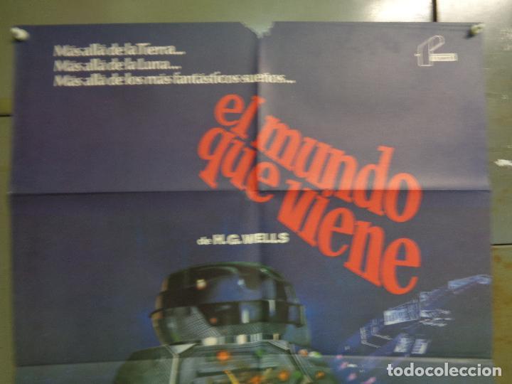 Cine: CDO K366 EL MUNDO QUE VIENE JACK PALANCE H.G. WELLS SCI-FI POSTER ORIGINAL 70X100 ESTRENO - Foto 2 - 257458630