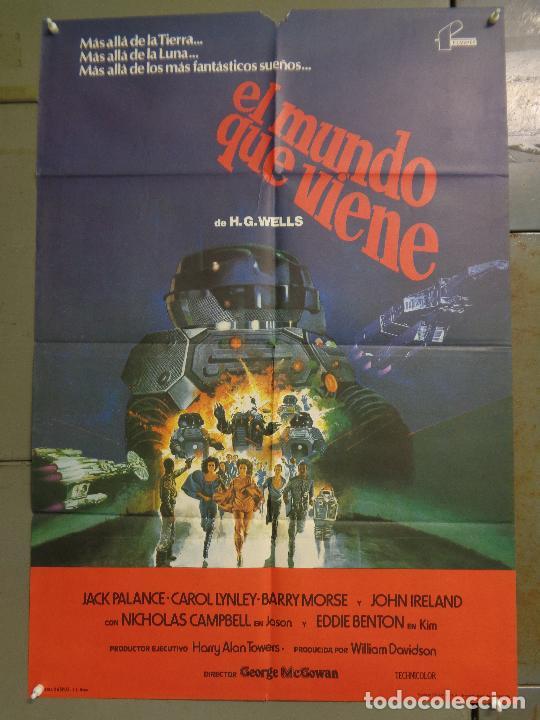 CDO K366 EL MUNDO QUE VIENE JACK PALANCE H.G. WELLS SCI-FI POSTER ORIGINAL 70X100 ESTRENO (Cine - Posters y Carteles - Ciencia Ficción)