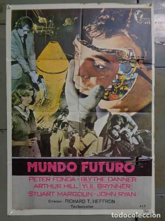 CDO K374 MUNDO FUTURO PETER FONDA CIENCIA FICCION POSTER ORIGINAL 70X100 ESTRENO (Cine - Posters y Carteles - Ciencia Ficción)