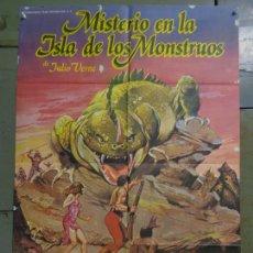Cine: CDO K378 MISTERIO EN LA ISLA DE LOS MONSTRUOS JULIO VERNE PETER CUSHING POSTER ORIGINAL ESTRENO 70X1. Lote 257470045
