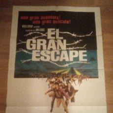 Cine: CARTEL ORIGINAL EL GRAN ESCAPE, STEVE MCQUEEN, JAMES GARNER. Lote 257705015