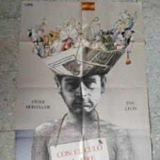 Cine: CON EL CULO AL AIRE. CARLES MIRA, OVIDI MONTLLOR, EVA LEÓN. 97 X 66,5 CM.. Lote 257971965