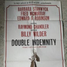 Cine: CARTEL DOUBLE INDEMNITY (PERDICIÓN). V.O. BILLY WILDER, BÁRBARA STANWYCK. MEDIDAS: 94,5 X 65,5 CM.. Lote 258122385