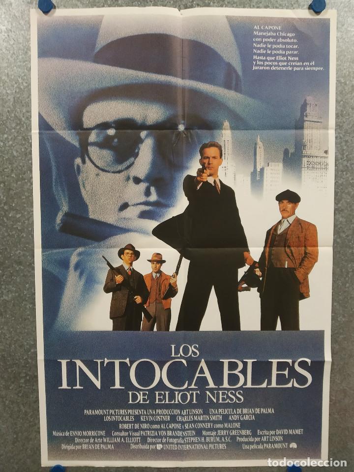 LOS INTOCABLES DE ELLIOT NESS. KEVIN COSTNER SEAN CONNERY, ROBERT DE NIRO AÑO 1971. POSTER ORIGINAL (Cine- Posters y Carteles - Drama)