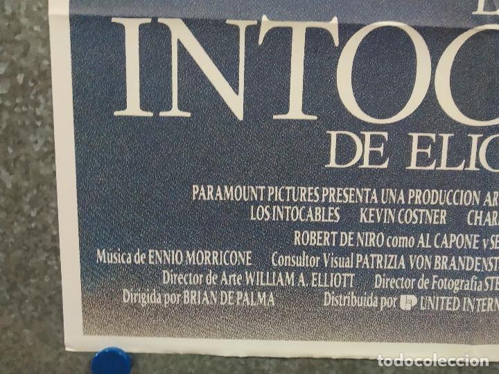 Cine: LOS INTOCABLES DE ELLIOT NESS. Kevin Costner Sean Connery, Robert De Niro AÑO 1971. POSTER ORIGINAL - Foto 6 - 258577605