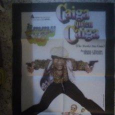 Cine: CAIGA QUIEN CAIGA (1972). JIMMY CLIFF. CARTEL ORIGINAL DE LA PELÍCULA DE CULTO REGGAE.. Lote 258798650