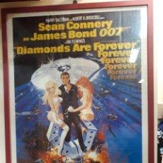 Cine: CARTEL CINE, DIAMONDS ARE FOREVER. JAMES BOND. UNITED ARTISTS. Lote 259274085