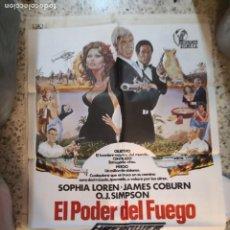 Cine: EL PODER DEL FUEGO SOPHIA LOREN JAMES COBURN POSTER ORIGINAL INGLES 70X100. Lote 259766630