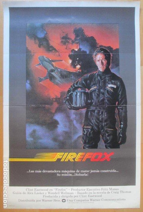 CARTEL CINE FIREFOX CLINT EASTWOOD 1982 C1986 (Cine - Posters y Carteles - Acción)