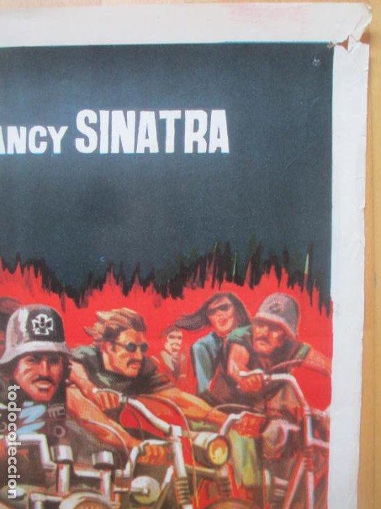 Cine: CARTEL CINE LOS ANGELES DEL INFIERNO PETER FONDA NANCY SINATRA 1967 JANO C1990 - Foto 2 - 259833045
