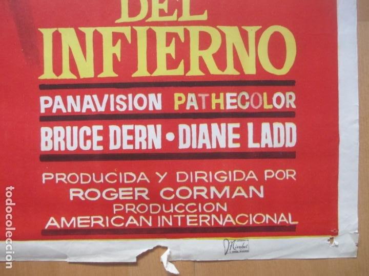 Cine: CARTEL CINE LOS ANGELES DEL INFIERNO PETER FONDA NANCY SINATRA 1967 JANO C1990 - Foto 3 - 259833045