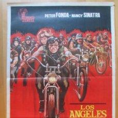 Cine: CARTEL CINE LOS ANGELES DEL INFIERNO PETER FONDA NANCY SINATRA 1967 JANO C1990. Lote 259833045