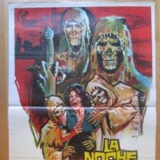 Cinéma: CARTEL CINE LA NOCHE DEL TERROR CIEGO CESAR BURNER LONE FLEMING 1972 JANO C1992. Lote 259834120