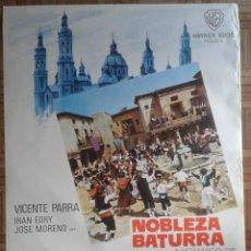 Cine: NOBLEZA BATURRA. POSTER ESTRENO 70X100CM. JUAN DE ORDUÑA. VICENTE PARRA, IRAN EORY. Lote 259835640