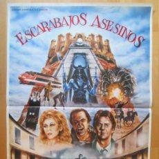 Cine: CARTEL CINE ESCARABAJOS ASESINOS RIP TORN ROBERT GINTY E. PICAZO 1982 C1993. Lote 259839725