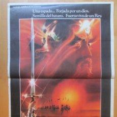 Cine: CARTEL CINE EXCALIBUR NIGEL TERRY HELEN MIRREN NICHOLAS CLAY 1981 C1995. Lote 259841525