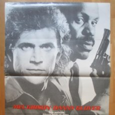 Cine: CARTEL CINE ARMA LETAL MEL GIBSON DANNY GLOVER 1987 C1997. Lote 259843160