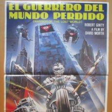 Cine: CARTEL CINE EL GUERRERO DEL MUNDO PERDIDO ROBERT GINTY DAVID WORTH CLAUDIO CASARO 1983 C1998. Lote 259846330