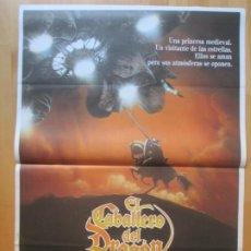 Cine: CARTEL CINE EL CABALLERO DEL DRAGON KLAUS KINSKI FERNANDO REY 1985 C1999. Lote 259847190