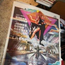 Cine: LA ESPIA QUE ME AMO JAMES BOND 007 ROGER MOORE POSTER ORIGINAL 70X100 ESTRENO. Lote 259855085
