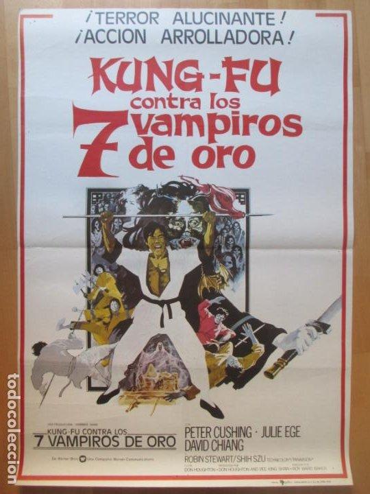 CARTEL CINE KUNG-FU CONTRA LOS 7 VAMPIROS DE ORO PETER CUSHING JULIE EGE 1975 C2005 (Cine - Posters y Carteles - Acción)