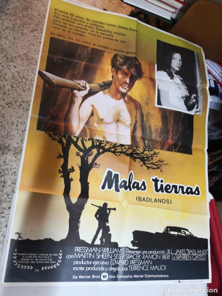 MALAS TIERRAS BADLANDS MARTIN SHEEN TERRENCE MALICK MCP POSTER ORIGINAL 70X100 ESTRENO (Cine- Posters y Carteles - Drama)