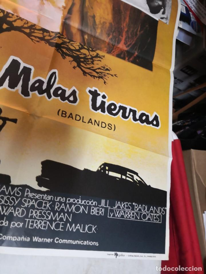 Cine: MALAS TIERRAS badlands MARTIN SHEEN TERRENCE MALICK MCP POSTER ORIGINAL 70X100 ESTRENO - Foto 3 - 259857440