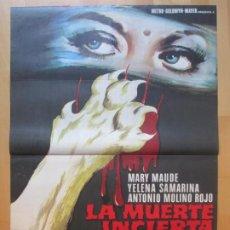 Cine: CARTEL CINE LA MUERTE INCIERTA MARY MAUDE YELENA SAMARINA 1972 C2010. Lote 259869650