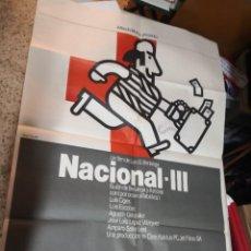 Cine: NACIONAL III. LUIS GARCÍA BERLANGA. CARTEL ORIGINAL 100X70. Lote 259914010