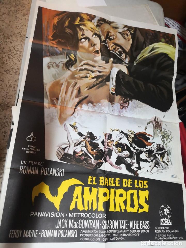CARTEL POSTER DE CINE EL BAILE DE LOS VAMPIROS CARTEL ORIGINAL. ALIANZA ESPAÑOLA (Cine - Posters y Carteles - Terror)